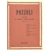 POZZOLI E. ETUDES DE MOYENNE DIFFICULTE HARPE