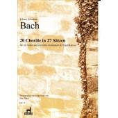 BACH J.S. 20 CHORALE IN 27 SATZEN VIOLON, VIOLONCELLE ET PIANO