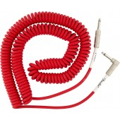 CORDON JACK FENDER ORIGINAL SERIES COIL CABLE STRAIGHT-ANGLE 30' FIESTA RED