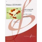 LEONARD H. SOLOS PROGRESSIFS OP 62 C RE MAJEUR VIOLON