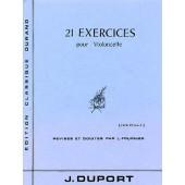 DUPORT J.L. 21 EXERCICES VOL 2 VIOLONCELLE
