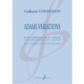 CONNESSON G. ADAMS VARIATIONS CLARINETTE SIB, VIOLON, VIOLONCELLE ET PIANO
