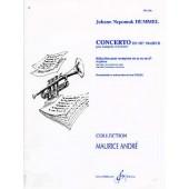 HUMMEL J.N. CONCERTO MIB MAJEUR TROMPETTE