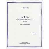 BACH J.S. ARIA EN RE VIOLON