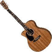 MARTIN GPCX2AE-MACASSAR-L GRAND PERFORMANCE GAUCHER CUT SAPELE MAC HPL