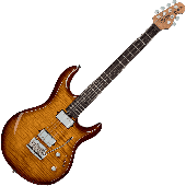 STERLING BY MUSIC MAN LK100-HZB STEVE LUKATHER FLAME MAPLE HAZEL BURST
