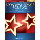 BROADWAY SONGS FOR TWO SAXOS ALTO