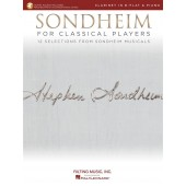 SONDHEIM FOR CLASSICAL PLAYERS CLARINETTE