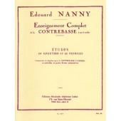 NANNY E. ETUDES DE KREUTZER ET FIORILLO CONTREBASSE