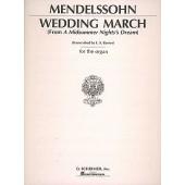 MENDELSSOHN F. WEDDING MARCH ORGUE
