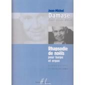 DAMASE J.M. RHAPSODIE DE NOELS HARPE