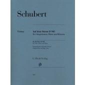 SCHUBERT F. SUR LE FLEUVE D 943 CHANT, COR ET PIANO