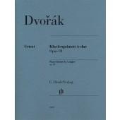 DVORAK A. QUINTET OP 81 CORDES ET PIANO