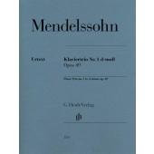 MENDELSSOHN F. TRIO N°1 OP 49 CORDES ET PIANO