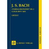 BACH J.S. CONCERTO N°2 BWV 1053 PARTITION DE POCHE