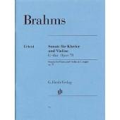 BRAHMS J. SONATE N°1 OP 78 VIOLON