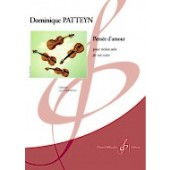 PATTEYN D. PENSEE D'AMOUR VIOLON SEUL