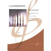 BAERMAN C. DUO CONCERTANT OP 4 CLARINETTE
