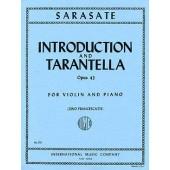 SARASATE P. INTRODUCTION ET TARANTELLE OP 43 VIOLON