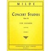 MILDE L. CONCERT STUDIES OP 26 VOL 1 BASSON