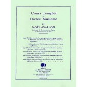 NOEL-GALLON DICTEES PROGRESSIVES A 2 PARTIES