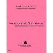 NOEL-GALLON DICTEES HARMONIQUES GRADUEES A 2,3,4 PARTIES