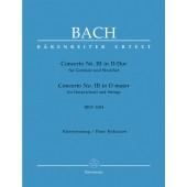 BACH J.S. CONCERTO N°3 BWV 1054 2 PIANOS