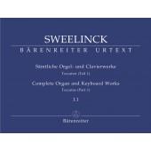 SWEELINCK J.P. COMPLETE ORGAN AND KEYBOARD WORKS VOL 1.1 ORGUE