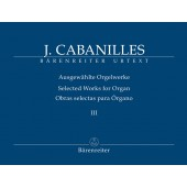 CABANILLES J. SELECTED WORKS VOL 3 ORGUE