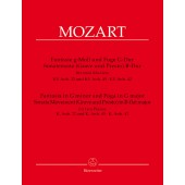 MOZART W.A. FANTAISIE ET FUGUE - MOUVEMENT SONATE 2 PIANOS