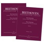 BEETHOVEN L.V. QUATUORS WoO 36 PIANO, VIOLON, ALTO, VIOLONCELLE