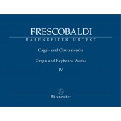 FRESCOBALDI G. ORGAN AND KEYBOARD WORKS VOL 4 ORGUE