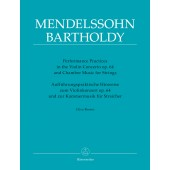 MENDELSSOHN F. PERFORMANCE PRACTICES VIOLON