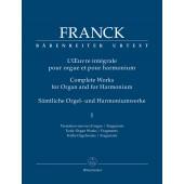 FRANCK C. L'OEUVRE INTEGRALE ORGUE OU HARMONIUM