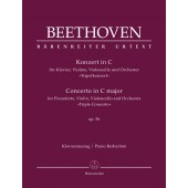 BEETHOVEN L. TRIPLE CONCERTO OP 56 PIANO, CORDES ET ORCHESTRE
