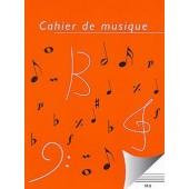 CAHIER DE MUSIQUE 8 PORTEES PAGES SEYES