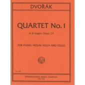 DVORAK A. PIANO QUARTET D MAJOR OP 23