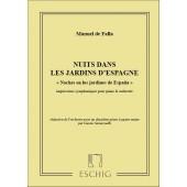 DE FALLA M. NUITS DANS LES JARDINS D'ESPAGNE 2 PIANOS