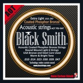 JEU DE CORDES ACOUSTIQUE BLACK SMITH AOT-PB1047 10/47