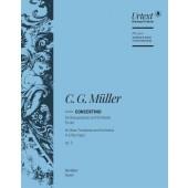 MULLER C.G. CONCERTINO TROMBONE SIB AVEC ORCHESTRE CONDUCTEUR