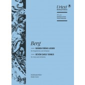 BERG A. SEVEN EARLY SONGS VOIX ET ORHESTRE CONDUCTEUR