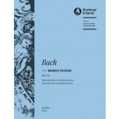 BACH J.S. MARKUS-PASSION BWV 247 CHOEUR PIANO