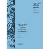 HAENDEL G.F. CONCERTOS N°13 - 16 ORGUE ET ORCHESTRE SCORE