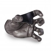 SUPPORT MURAL GUITAR GRIP MALE ANTIQUE PEWTER LEFT