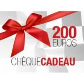 CHEQUE CADEAU DE 200€