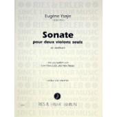 YSAYE E. SONATE OP POSTHUME 2 VIOLONS