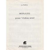 TAIRA Y. SONATE VIOLON SOLO