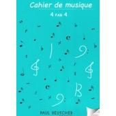 CAHIER DE MUSIQUE 4/4 PORTEES SPIRALE
