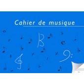 CAHIER DE MUSIQUE 6 PORTEES