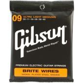 JEU DE CORDES GUITARE ELECTRIQUE GIBSON BRITE WIRES SEG-700ULMC 009.046